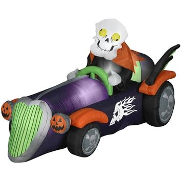 SheilaShrubs.com: Airblow Inflatable Skelly Racer 64293 by Gemmy: Halloween