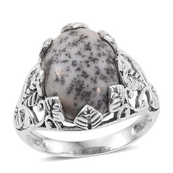 TGW 8.94 cts of Dendritic Agate Sterling Silver Ring