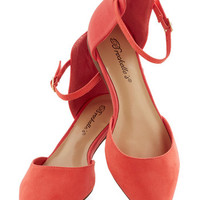 ModCloth Minimal Peached as Punch Flat