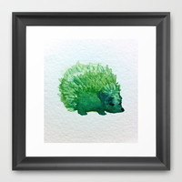 hedgehog Framed Art Print by Carrie Booth | Society6
