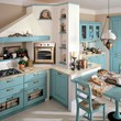 Decapé wooden kitchen with handles Laura Collection by Cucine Lube