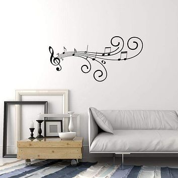 Vinyl Wall Decal Musical Art Pattern Music Room Home Interior Stickers Mural (ig5864)