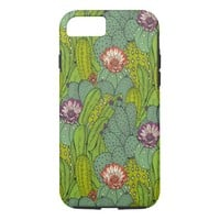 Cactus Flower Pattern iPhone 7 Case