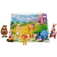 "Disney Winnie the Pooh 3 1/2"" Figure Play Set -- 7-Pc. (Pooh, Tigger, Eeyore, Piglet, Rabbit, Owl, Kanga with Roo)"