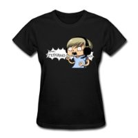 Spreadshirt Women's PewDiePie Nooo Stephano T-Shirt, black, S