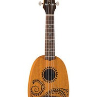 Luna Mahogany Series Tattoo Soprano Pineapple Ukulele