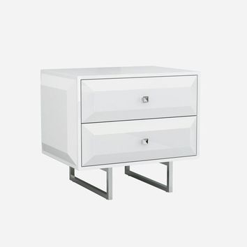 Abrazo Night Stand high gloss white