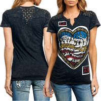 Affliction Backstage Juniors T-Shirt - Black