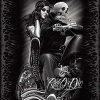 Ride or Die Biker Babe DGA Queen Blanket - Free Shipping in the US!