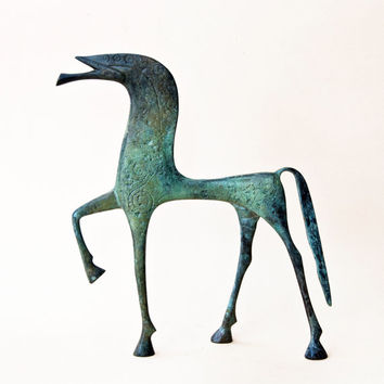 Large Greek Geometric Bronze Horse, Metal Art Sculpture, Bronze Sculpture, Museum Quality Art, Greek Art, Ancient Greece
