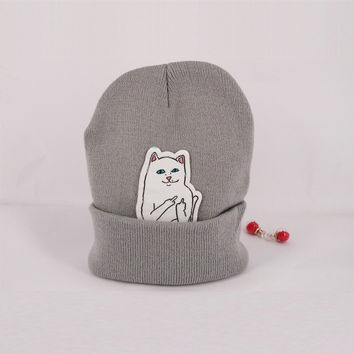 Shop Crazy Cats NEW winter beanie knit