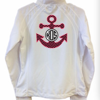 Monogrammed Printed Design White Casual Jacket | Marley Lilly