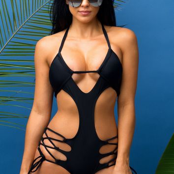 South Beach Black Monokini