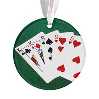 Poker Hands - Two Pair - King, Nine Ornament