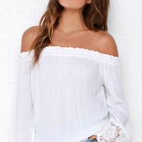 O'Neill Beau Ivory Off-the-Shoulder Top