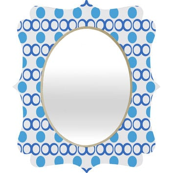 Lisa Argyropoulos Retrocity In Blue Sky Quatrefoil Mirror