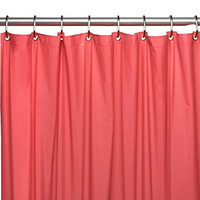 Park Avenue Deluxe Collection Park Avenue Deluxe Collection Hotel Collection 8 Gauge Vinyl Shower Curtain Liner w/ Metal Grommets in Rose