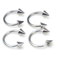 ac DCCKO2Q 10pcs Fashion Surgical Stainless Steel Eyebrow Nose Lip Captive Ring Tongue Punk Piercing Tragus Cartilage Earring Body Jewelry