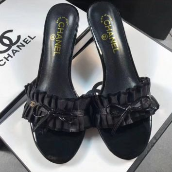 CHANEL Fashion Embroidery High heels