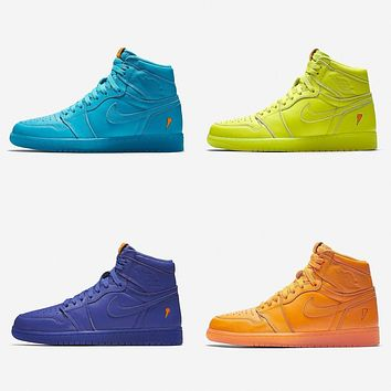 Air Jordan 1 Retro High Gatorade Orange Peel Blue Lagoon Grape Cyber AJ1 Sneakers