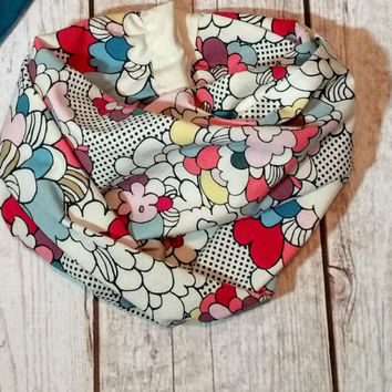 Flowers Pop Art Infinity Scarf