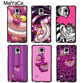 MaiYaCa Alice in Wonderland Cheshire Cat Soft Rubber Phone Cases For Samsung Galaxy S6 S7 edge plus S8 S9 Note 4 5 8 Back Coque