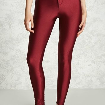 Satin High-Waisted Pants