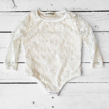 Girls Lace Bodysuit