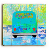 Road Trip by Artist Lisa Weedn Wood Sign