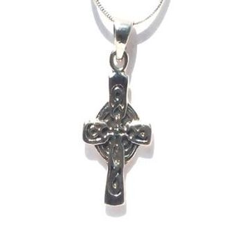 Sterling Silver Irish Celtic Cross Charm Pendant
