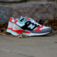 New Balance - 530 90s Running Remix - White with Orange & Black