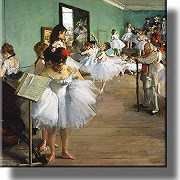The Dance Class By Edgar Degas Picture on Stretched Canvas, Wall Art Decor, Ready to Hang!