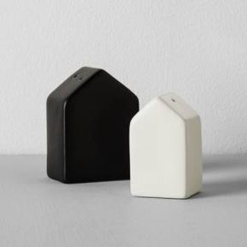 House Salt and Pepper Shaker Set (2pc) - Black/Cream - Hearth & Hand™ with Magnolia