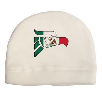 Hecho en Mexico Eagle Symbol - Mexican Flag Adult Fleece Beanie Cap Hat by TooLoud