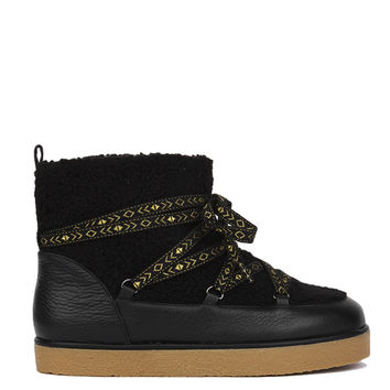 House of Harlow 1960 Sadie Pull On Alpine Boots - Black