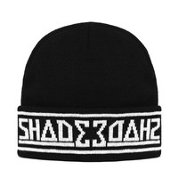 SHADE Knitted Beanie Hat / Black
