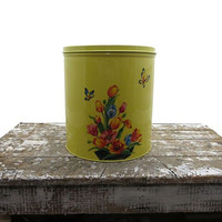 Vintage Yellow Canister Large Four Canister