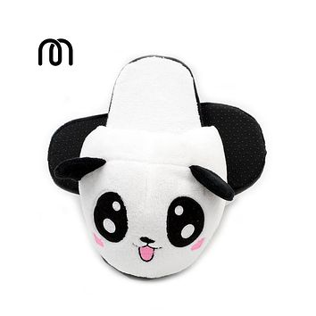 Millffy plush panda animal big head lovely plush slipper adult funny slippers panda slippers