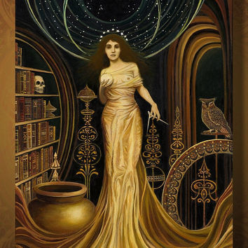 Urania  The Muse of Astronomy and Philosophy 16x20 by EmilyBalivet