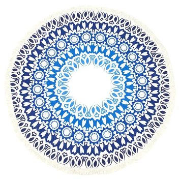 Doily Pattern Round Beach Towel Mat General Merchandise 187