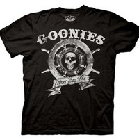 The Goonies Captain's Wheel Black T-shirt  - The Goonies - | TV Store Online