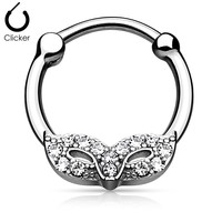 Masquerade Mask with Gem Septum Clicker
