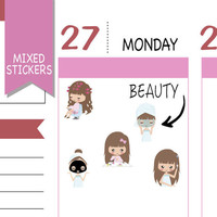 Mixed Beauty Stickers Wellness Stickers Planner Stickers Emely Stickers Cute Stickers Decorative Stickers Functional Stickers NR1575