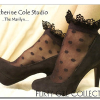 The Marilyn    baby doll shear lacey anklet by CatherineColeStudio