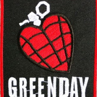 GREEN DAY Heart Grenade Logo Heavy Metal Band Music Iron On Patch Tshirt Transfer Motif Applique Rock Punk Baseball Cap Hat Badge