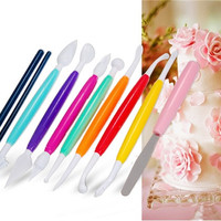 10-Piece Fondant Cake Decorating Flower Molding Tool Set