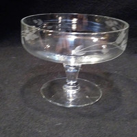 Princess House Heritage Crystal Etched Stemware Candy Dish  (1373)