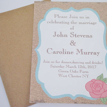 Best wedding invitation rsvp dates products on wanelo rustic rose country wedding invitation sample save the datersv stopboris Choice Image