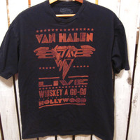 Van Halan Retro T-Shirt,  Size Medium, Live Whisky a Go-Go, Sunset Strip