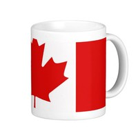 Canada Canadian Maple leaf flag Classic White Coffee Mug